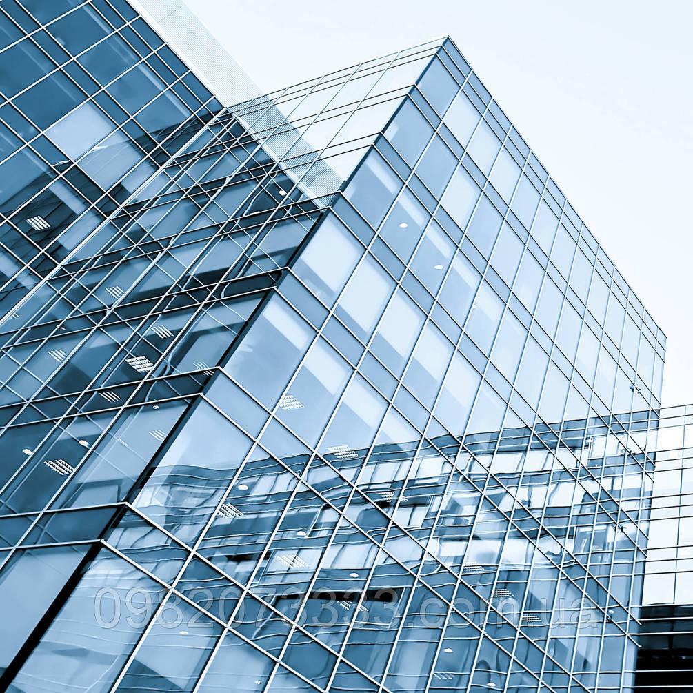 Архитектурное тонирование стёкол зеркальной солнцезащитной плёнкой Armolan R Silver 35