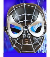 Маска человека-паука, маска спайдермена черная