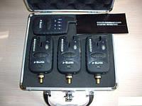 Набор сигнализаторов для рыбалки с пейджером BARRACUDA 3+1, беспроводной, сигнализатор поклевки, контроль чувс