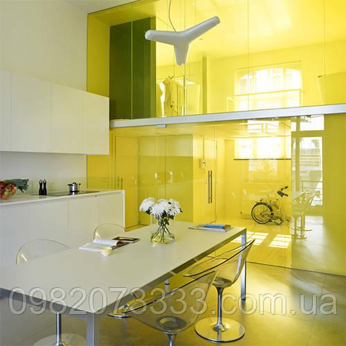 Тонування стекол декоративної вітражною плівкою Sun Control NR Yellow 20