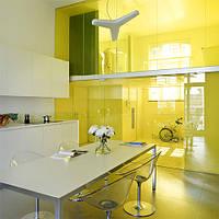 Тонування стекол декоративної вітражною плівкою Sun Control NR Yellow 20, фото 1