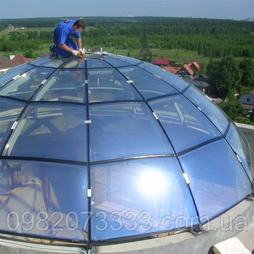 Архитектурное наружное тонирование стёкол солнцезащитной плёнкой Sun Control RS 35 XT