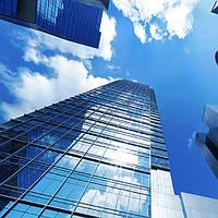 Архітектурна сонцезахисна тонування стекол металізованою плівкою Sun Control HP Blue 35, фото 1