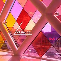 Тонирование стёкол декоративной витражной плёнкой Sun Control NR Red 20, фото 1