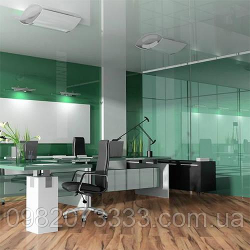 Декоративное тонирование стёкол витражной плёнкой Sun Control NR Green 20