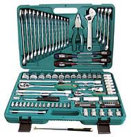 """Универсальный набор торцевых головок 1/4""""DR 4-10 мм и  1/2""""DR 8-32 мм, комбинированных ключей 8-24 мм и отверток, 101 предмет"""