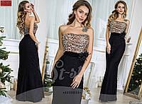 Вечернее платье  в пол с легким шлейфом