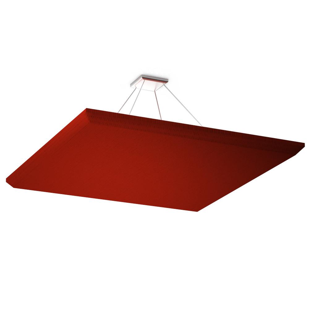 Акустическая подвесная звукопоглощающая панель Quadro red