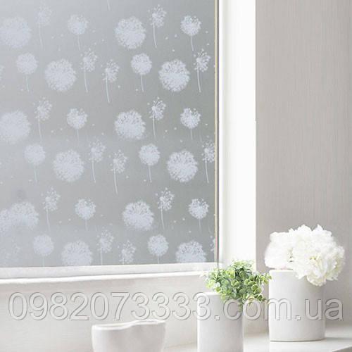Декоративная тонировка пленкой стекла Одуванчики
