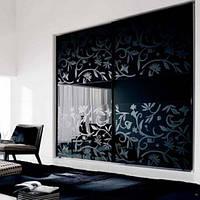 Тонировка стекла декоративной пленкой Черный глянец, фото 1