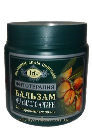 Бальзам для окрашенных волос хна и масло арганы IriS Фито Терапия