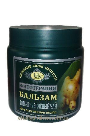 Бальзам для всех типов волос с имбирем и зеленым чаем IriS Фито Терапия