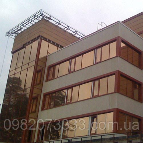 Архитектурная солнцезащитная тонировка стекол пленкой Armolan НP Solar Bronze 20