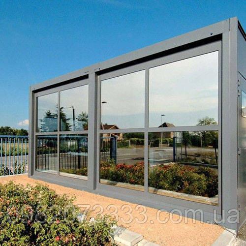 Архитектурная солнцезащитная тонировка стекол пленкой Armolan HP Platinum 35