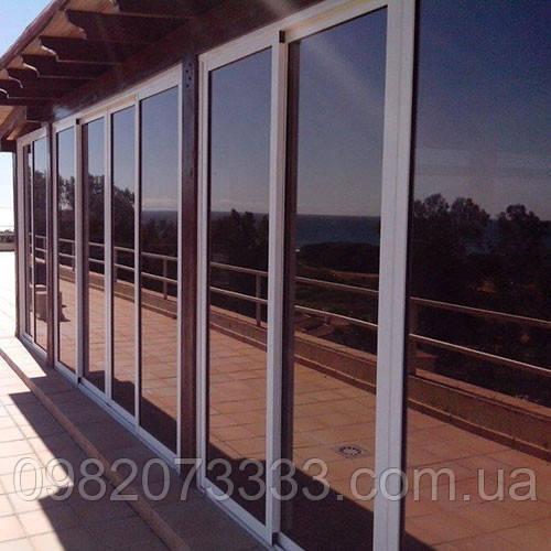 Архитектурная солнцезащитная тонировка стекол пленкой Armolan НP Solar Bronze 35