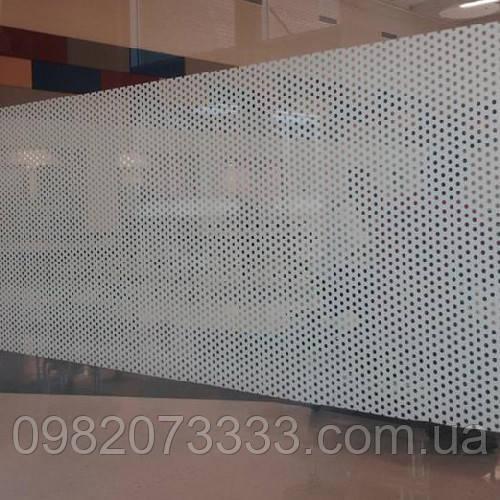 Декоративная интерьерная тонировка офисных перегородок Точки прозрачные