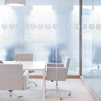 Декоративное интерьерное тонирование пленкой офисных перегородок Точки белые матовые, фото 1