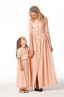 Набор мама и дочка длинные платья хлопок