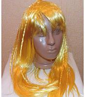 Маскарадный парик длинный с косичками жёлтый