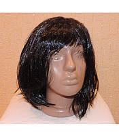 Карнавальный парик каре чёрный