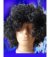Карнавальный парик кучерявый черный