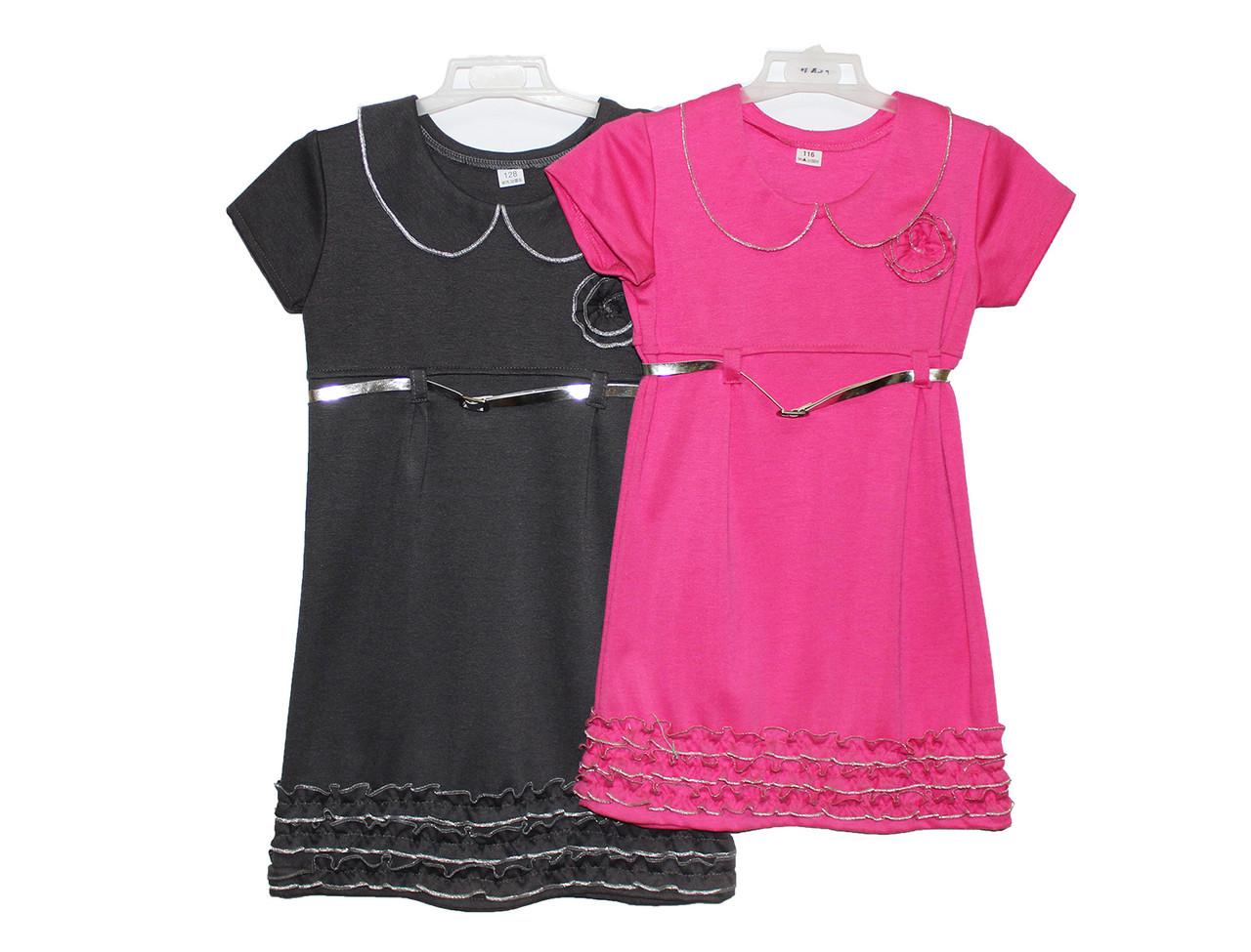 Платья детские трикотажные подростковые Серебро