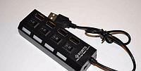 Хаб USB 2.0 на 4 порта + switch 5, usb hub разветвитель 4 порта