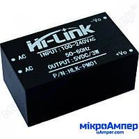 Модуль AC-DC понижуючий з 220В на 5В 600мА HLK-PM01