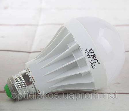 LED лампа UKC, 12W E27 6500K 220V, фото 2