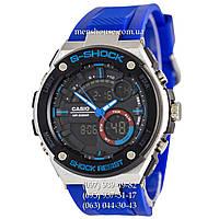 Бюджетные часы Casio G-Shock GST-210 Silver-Blue-Blue Wristband