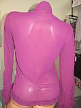 Блуза шифоновая с длинным рукавом, отлично подойдет на каждый день или на праздник, р.44-46 код 557М, фото 3