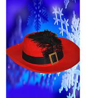 Шляпа мушкетера красная