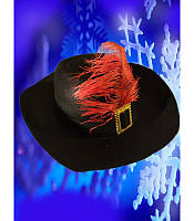 Шляпа мушкетера черная