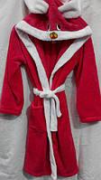 Халат махровый зайчик детский с капюшоном для девочек