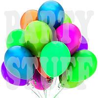 Воздушные шарики Gemar GF90 неон ассорти 10' (26 см) 100 шт