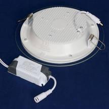 Светильник точечный светодиодный 18Вт врезной Biom круглый + стекло белый свет, фото 2