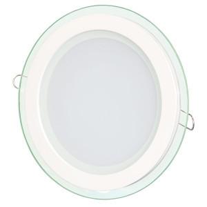 Светильник точечный светодиодный 18Вт врезной Biom круглый + стекло теплый белый свет