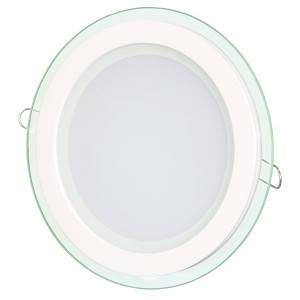 Светильник точечный светодиодный 18Вт врезной Biom круглый + стекло теплый белый свет, фото 2