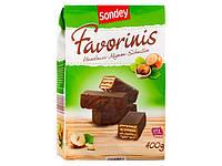 SONDEY Favorinis Haselnuss Mignon Schnitten Вафли в шоколаде 400 г (Германия)