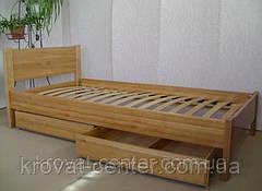 """Детская кровать """"Детская Эконом"""" (1400\1600*700мм.) массив - сосна, ольха, береза, дуб., фото 3"""