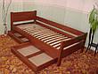 """Детская кровать """"Детская Эконом"""" (1400\1600*700мм.) массив - сосна, ольха, береза, дуб., фото 4"""