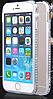 Серебряный бампер для Iphone 6 6S с камнями Сваровски