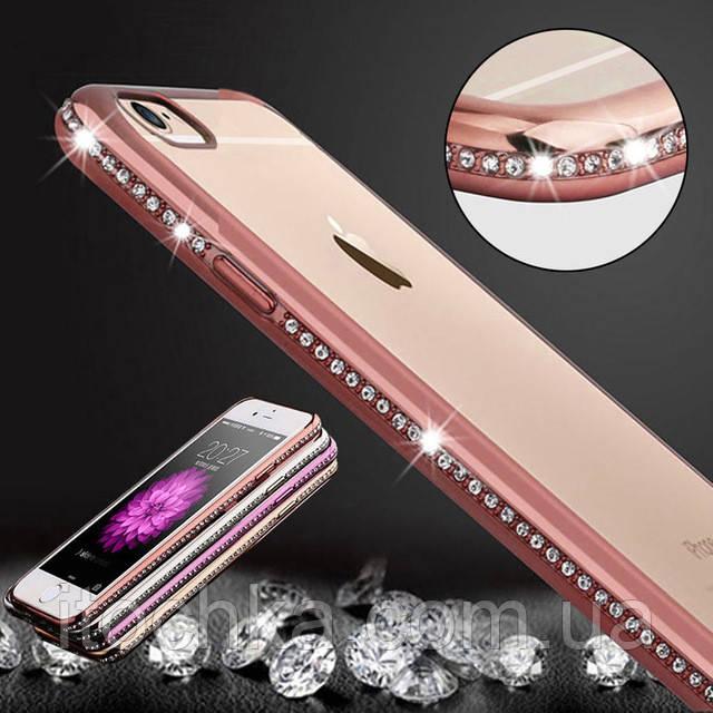 Luxury bling diamond frame TPU case iPhone 7