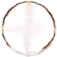 Фольгированный круг без рисунка, серебро
