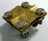 Крестовой универсальный зажим латунь D-16мм  проволока 6-8мм или лента 25-40ч мм