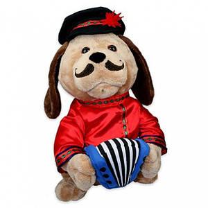 Поющая игрушка Собака Ловелас ( три вида одежды + две песни на выбор )