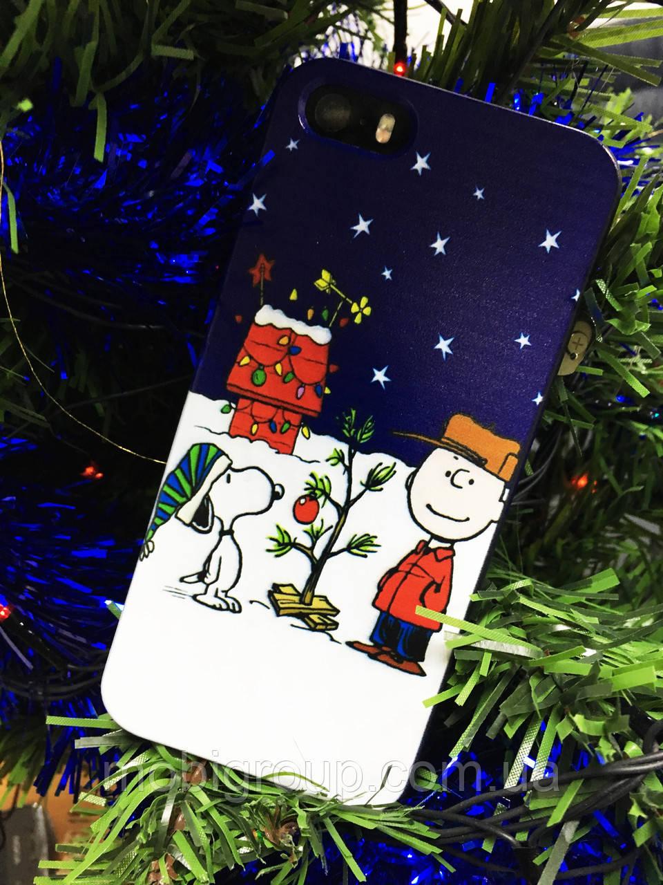 Пластиковый чехол Снупи iPhone 5S/5, Snoopy