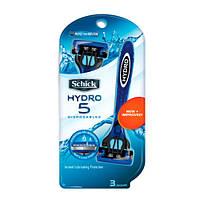 Schick Hydro 5 Disposables одноразовые мужские станки 3 шт