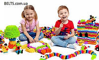 Игра для детей Bunchems - Конструктор-липучка (Вязкий пушистый шарик 150 предметов)