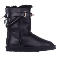 Угги женские кожаные Hermes 552078 черные